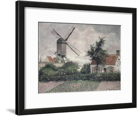 Moulin a Knocke, Belgique-Camille Pissarro-Framed Art Print