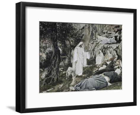 Jesus Commands His Disciples to Rest-James Tissot-Framed Art Print