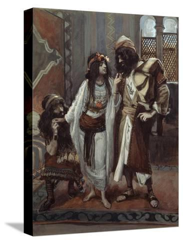 The Harlot of Jericho and the Two Spies-James Tissot-Stretched Canvas Print