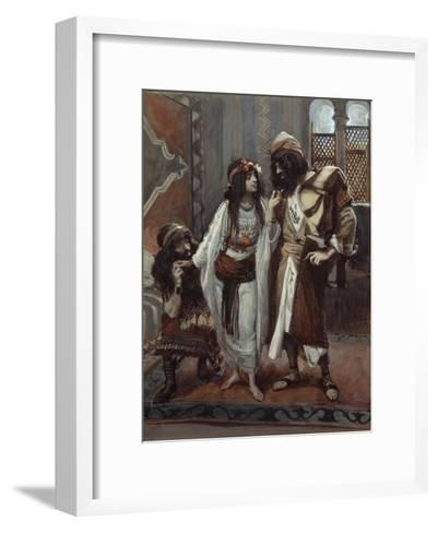 The Harlot of Jericho and the Two Spies-James Tissot-Framed Art Print