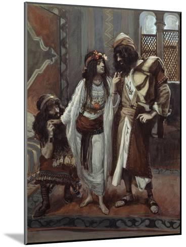 The Harlot of Jericho and the Two Spies-James Tissot-Mounted Giclee Print
