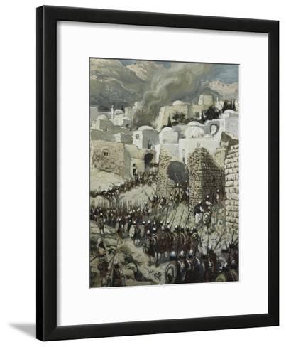 The Taking of Jericho-James Tissot-Framed Art Print