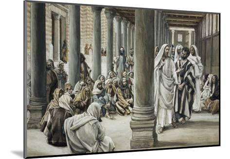 Jesus Walking on Solomon's Porch-James Tissot-Mounted Giclee Print
