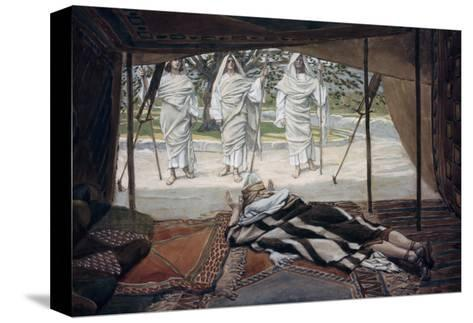 Abraham and the Three Angels-James Tissot-Stretched Canvas Print