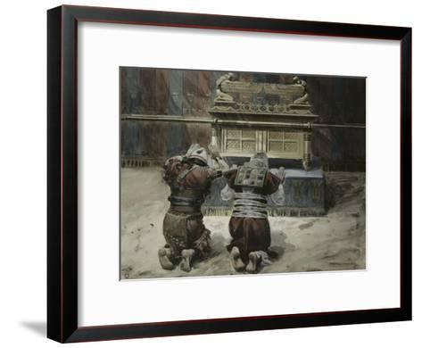 Moses and Joshua in the Tabernacle-James Tissot-Framed Art Print