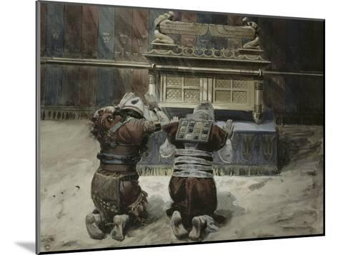 Moses and Joshua in the Tabernacle-James Tissot-Mounted Giclee Print