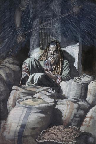 Man Who Laid Up Treasure-James Tissot-Stretched Canvas Print