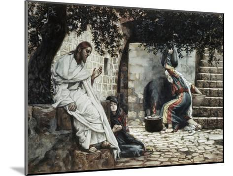 Magdalene at the Feet of Jesus-James Tissot-Mounted Giclee Print