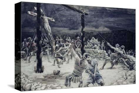 Raising of the Cross-James Tissot-Stretched Canvas Print