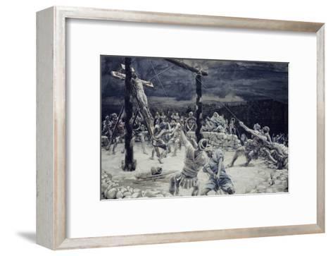 Raising of the Cross-James Tissot-Framed Art Print