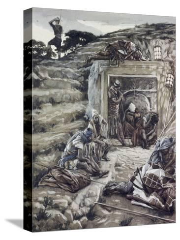 Roman Guards at the Tomb-James Tissot-Stretched Canvas Print