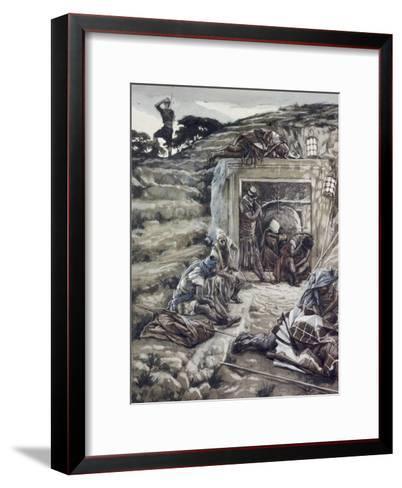 Roman Guards at the Tomb-James Tissot-Framed Art Print