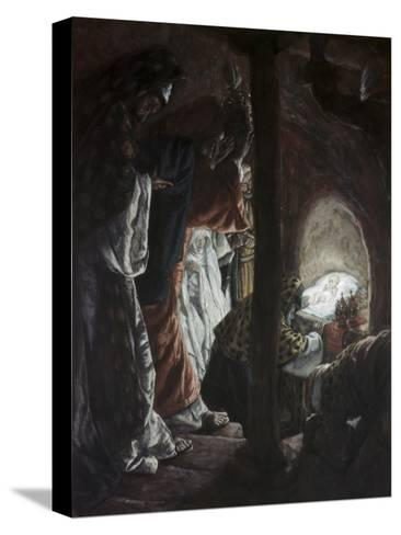Adoration of the Wise Men-James Tissot-Stretched Canvas Print