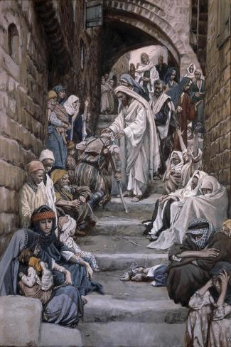 All the City Was Gathered Together-James Tissot-Stretched Canvas Print