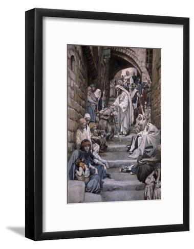 All the City Was Gathered Together-James Tissot-Framed Art Print