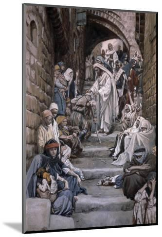 All the City Was Gathered Together-James Tissot-Mounted Giclee Print