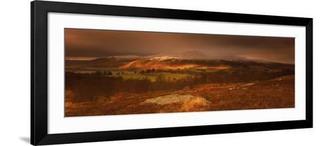 Frost and Snow on Mountains, Rannoch, Scotland-Peter Adams-Framed Art Print