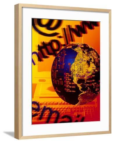 Concept of Digital Communications-Carol & Mike Werner-Framed Art Print