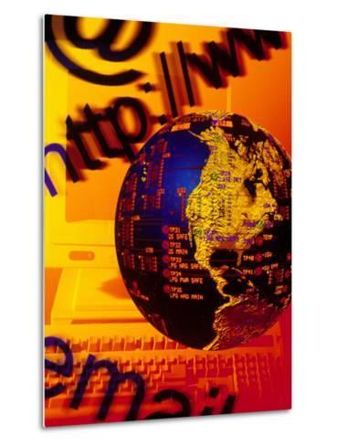 Concept of Digital Communications-Carol & Mike Werner-Metal Print