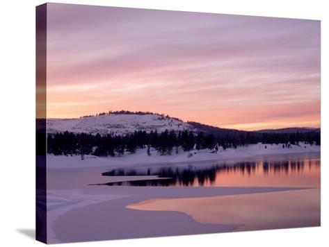 Sunset, Boca Reservoir, Truckee, CA-Kyle Krause-Stretched Canvas Print