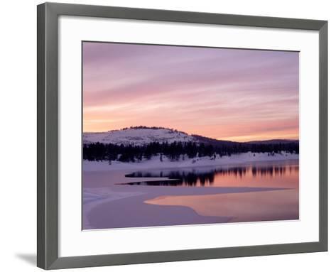 Sunset, Boca Reservoir, Truckee, CA-Kyle Krause-Framed Art Print