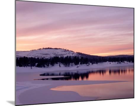 Sunset, Boca Reservoir, Truckee, CA-Kyle Krause-Mounted Photographic Print