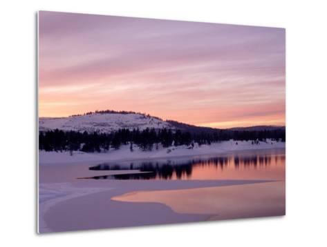 Sunset, Boca Reservoir, Truckee, CA-Kyle Krause-Metal Print