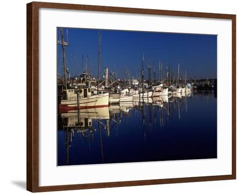 Fishing Boats in Port, Ballard, WA-Christopher Jacobson-Framed Art Print