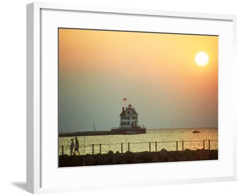 Sunset Over Lake Erie, OH-Jeff Greenberg-Framed Art Print