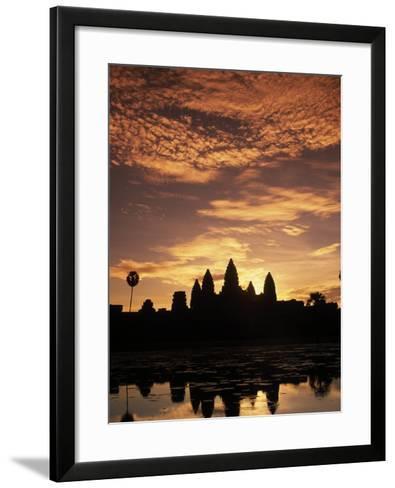 Sunrise at Angkor Wat Temple-Angelo Cavalli-Framed Art Print