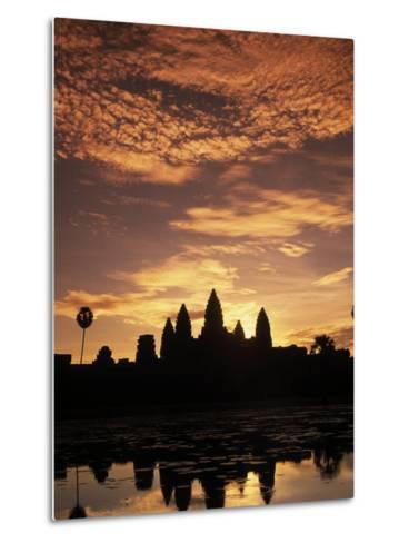 Sunrise at Angkor Wat Temple-Angelo Cavalli-Metal Print