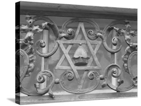 Iron Work in Historic Jewish Quarter, Prague-Keith Levit-Stretched Canvas Print