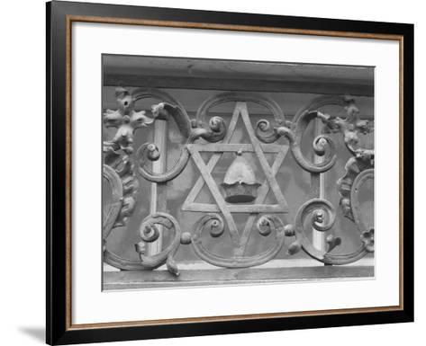 Iron Work in Historic Jewish Quarter, Prague-Keith Levit-Framed Art Print