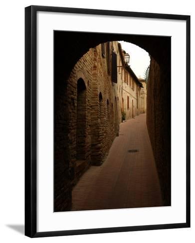 San Gimignano, Tuscany, Italy-Keith Levit-Framed Art Print