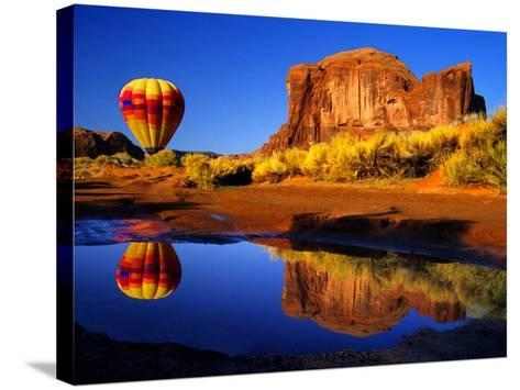 Arizona, Monument Valley, Hot Air Balloon-Russell Burden-Stretched Canvas Print