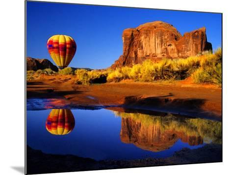 Arizona, Monument Valley, Hot Air Balloon-Russell Burden-Mounted Photographic Print