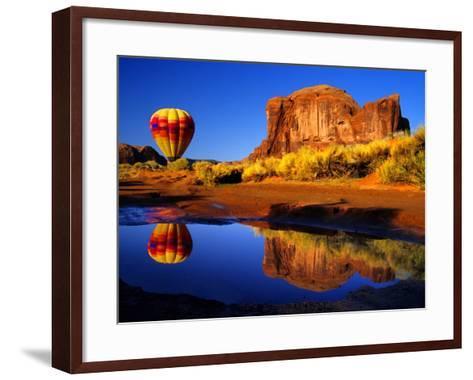 Arizona, Monument Valley, Hot Air Balloon-Russell Burden-Framed Art Print