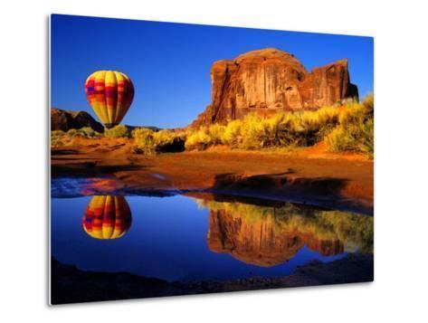 Arizona, Monument Valley, Hot Air Balloon-Russell Burden-Metal Print