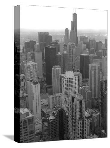 Aerial View of Chicago-Keith Levit-Stretched Canvas Print