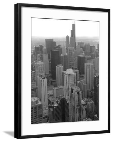 Aerial View of Chicago-Keith Levit-Framed Art Print