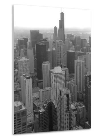 Aerial View of Chicago-Keith Levit-Metal Print