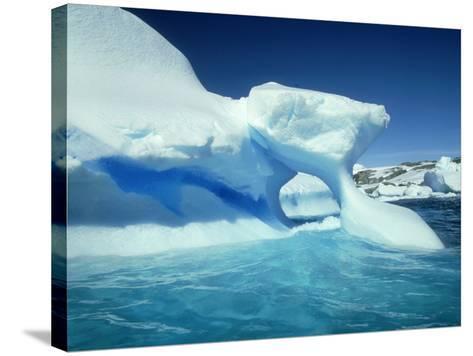 Blue Ice Stripe in Iceberg, Antarctic Peninsula-Rick Price-Stretched Canvas Print