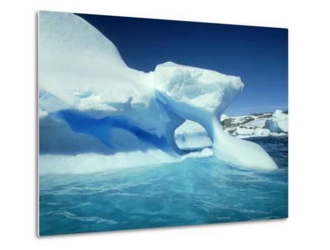 Blue Ice Stripe in Iceberg, Antarctic Peninsula-Rick Price-Metal Print