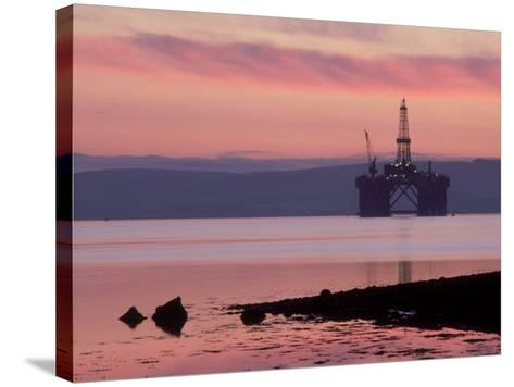Oil Rig at Dawn, Ross-Shire, Scotland-Iain Sarjeant-Stretched Canvas Print