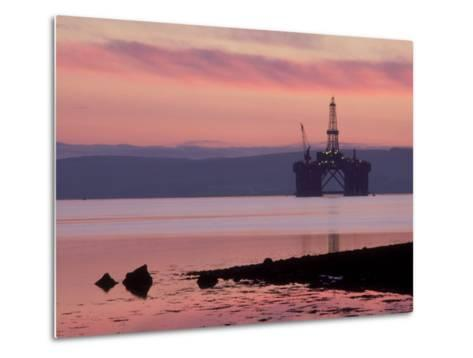 Oil Rig at Dawn, Ross-Shire, Scotland-Iain Sarjeant-Metal Print