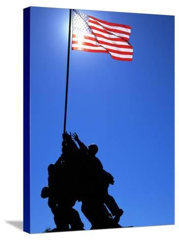 Iwo Jima Memorial, Arlington, VA-Jeff Greenberg-Stretched Canvas Print