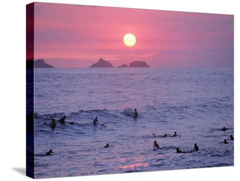 Beach at Sunset, Rio de Janeiro, Brazil-Jeff Dunn-Stretched Canvas Print