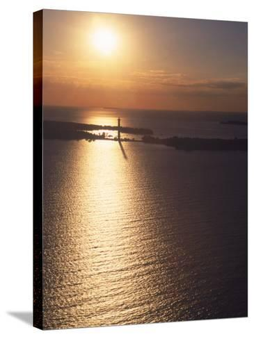 Sunset on Put-In-Bay, Ohio-Jeff Friedman-Stretched Canvas Print