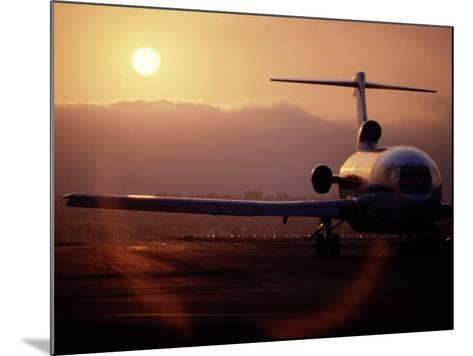 Silhouette of Airplane-David Harrison-Mounted Photographic Print