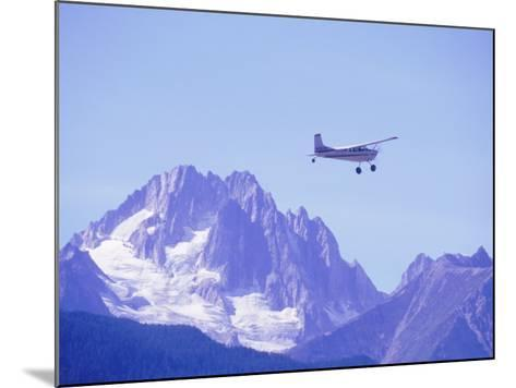 Aircraft in Flight Over Mountain, Haines, Alaska-Roger Holden-Mounted Photographic Print